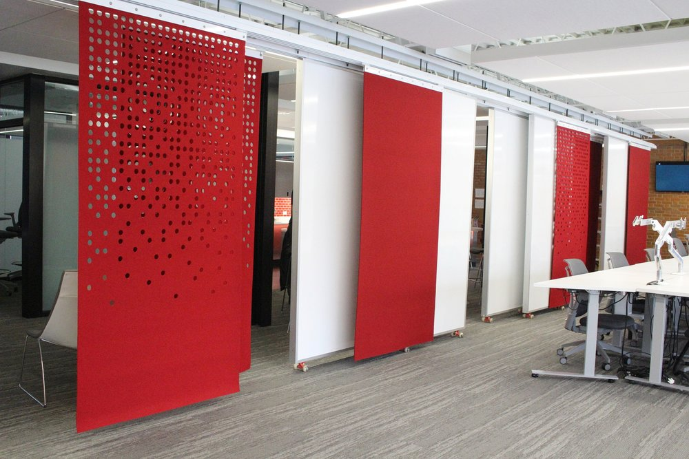 Red Arrow Room Dividing Panels