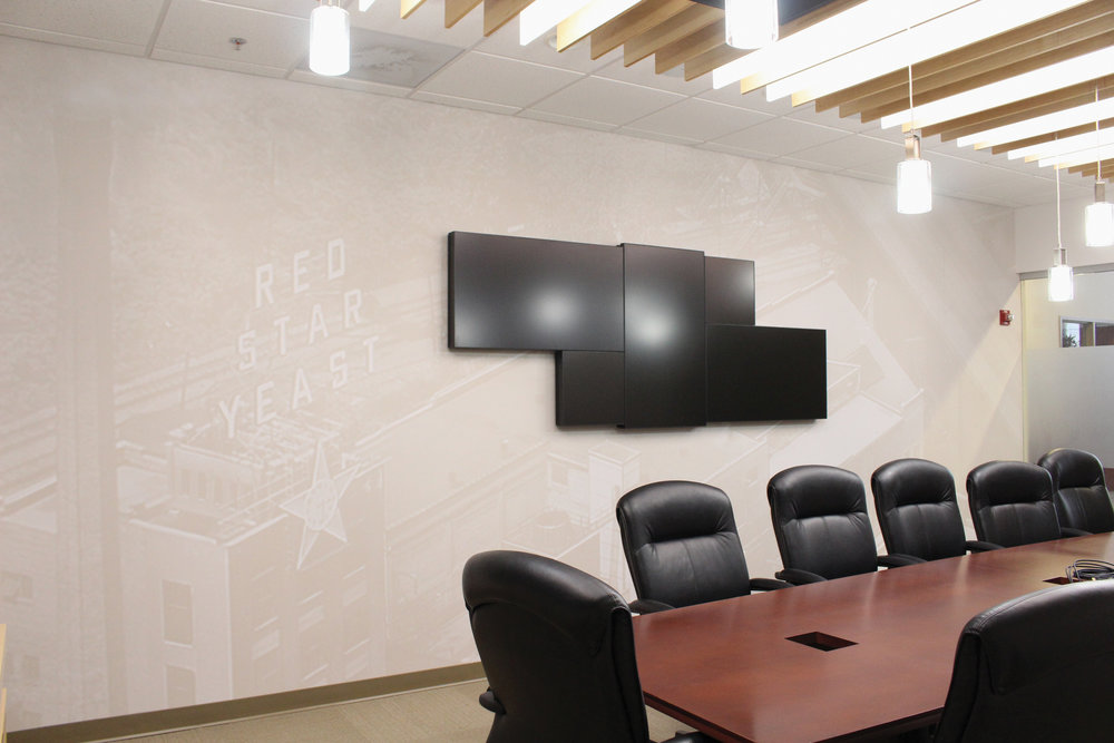 Lesaffre Conference Room Historic Wall Covering