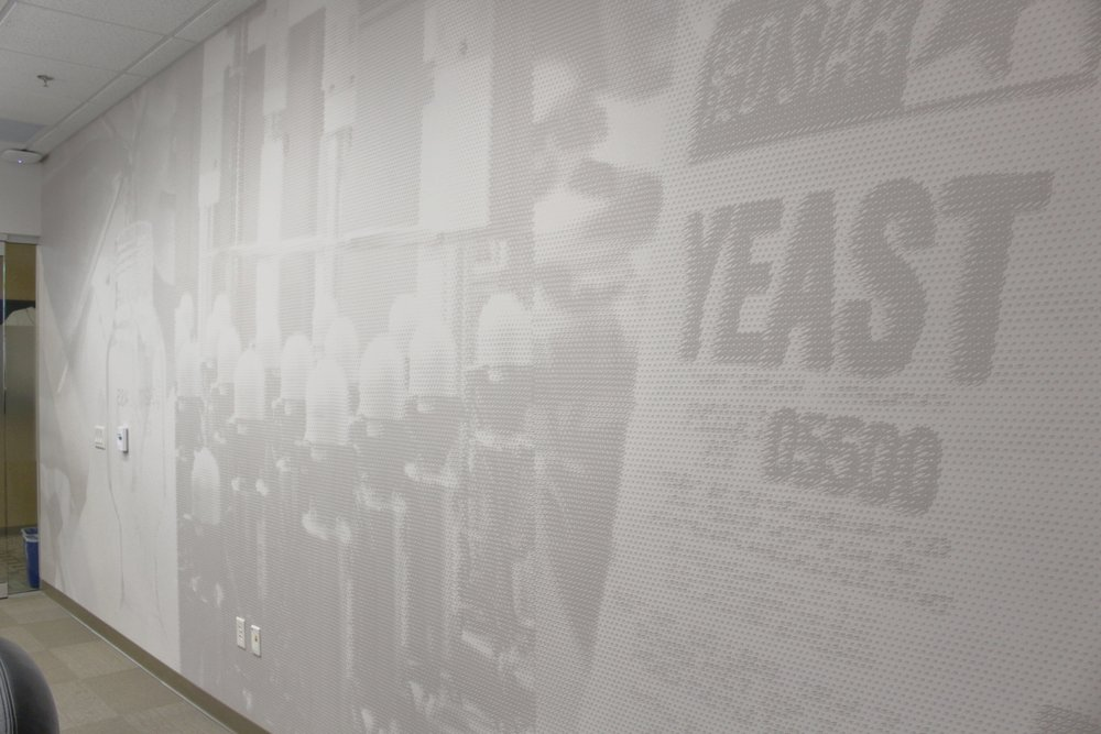 Lesaffre Conference Room Branded Wall Covering