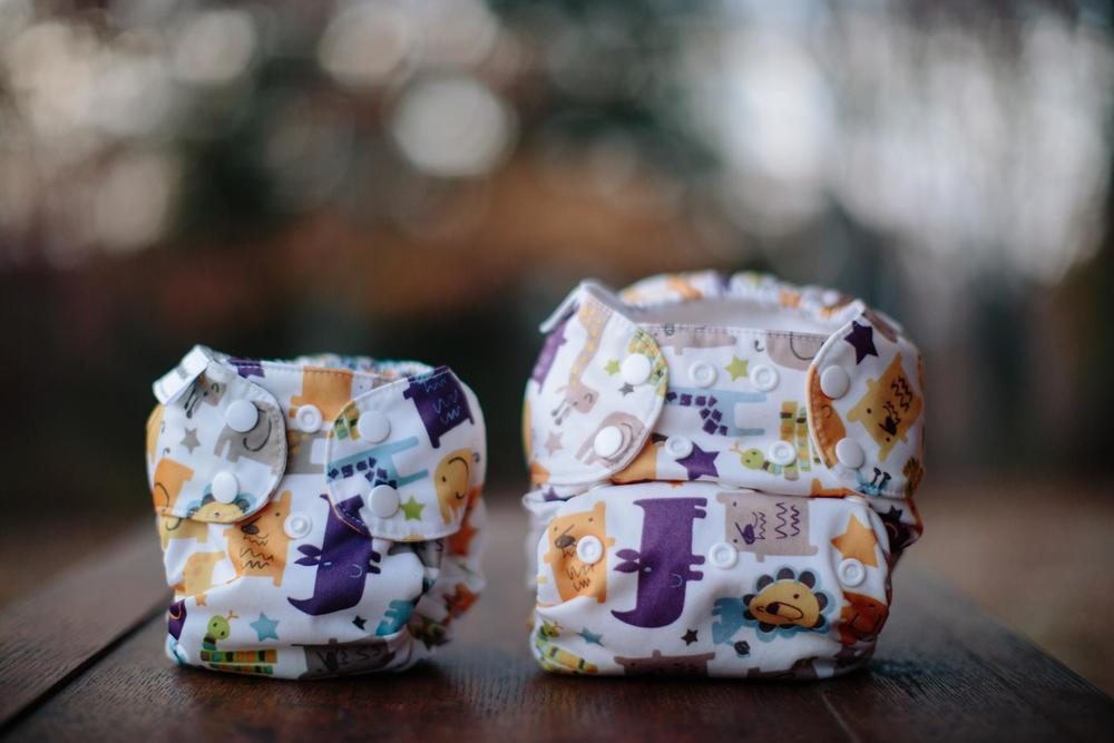 You know you're a cloth diaper addict when your pregnancy announcement is a picture of two cloth diapers!