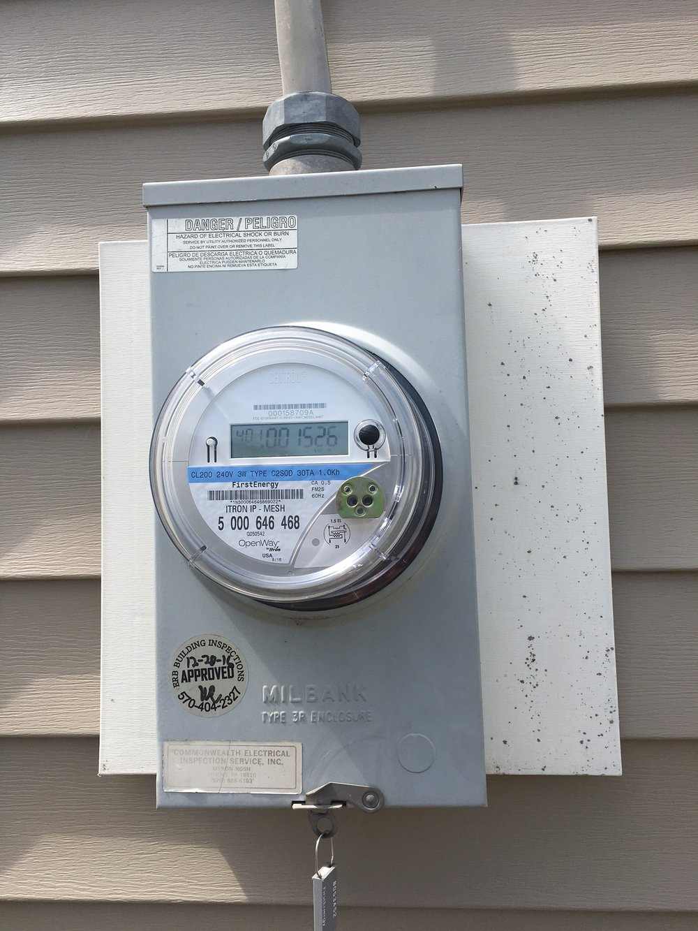 Here's a photo of a smart meter.