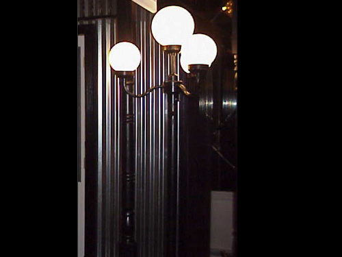 Street Lamps:  Antique lamps complete with a four-bulb configuration. (8 available)