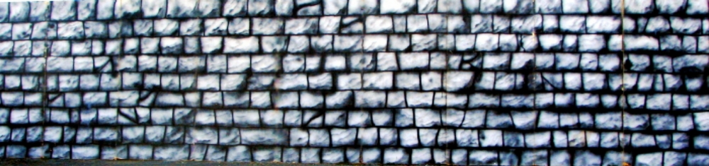 Medieval Stone Wall:  Scene is 8' high and 36' wide, foamcore