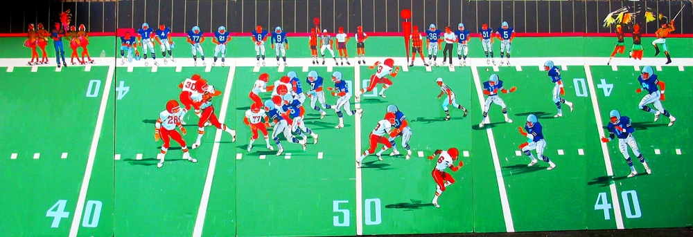 Football Field:  Generic Football field that measures 8' high and 24' wide, foamcore