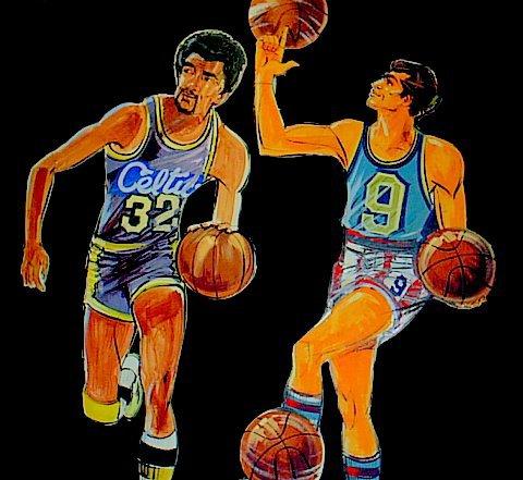 Basketball cutouts, foamcore