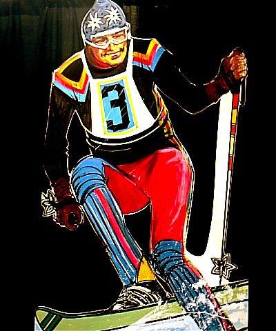Ski cutout, foamcore