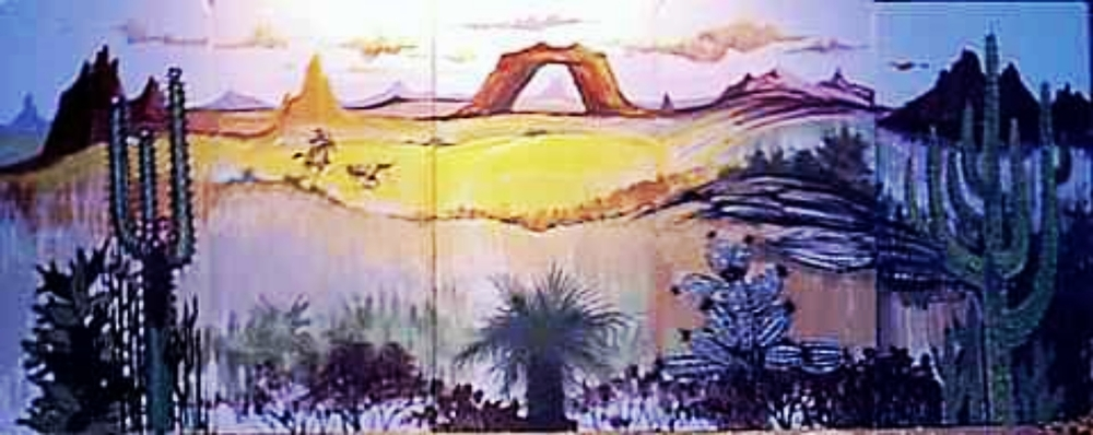 Western Scene 3:  measures 8' high and 20' wide, foamcore.