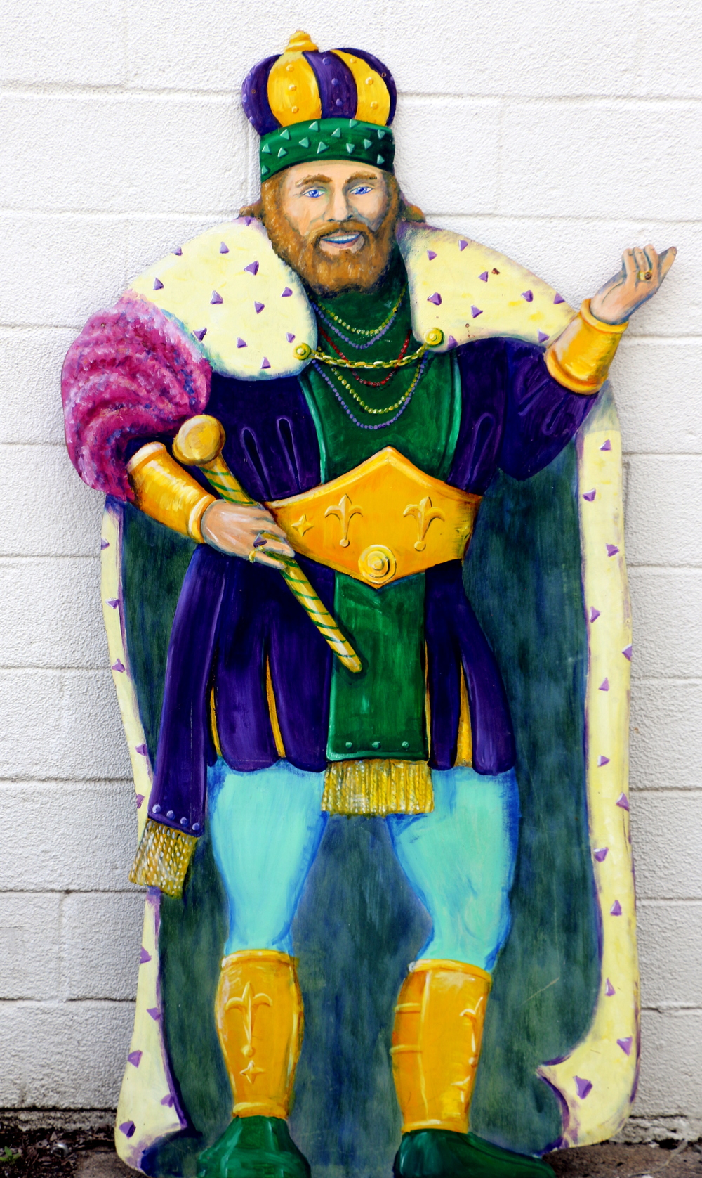 King of the Parade:  Wooden stand up, 2 sided, 7' high and 4' wide