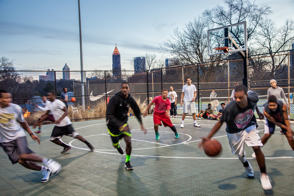 Playing Basketball, 2014, Atlanta