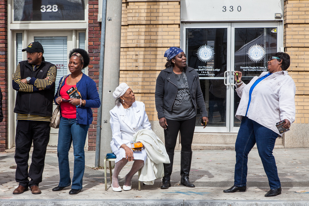 Spectators at Black History Month Parade, 2014, Atlanta