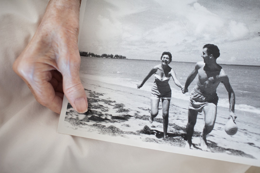 Mom Holding Dad's Favorite Photograph