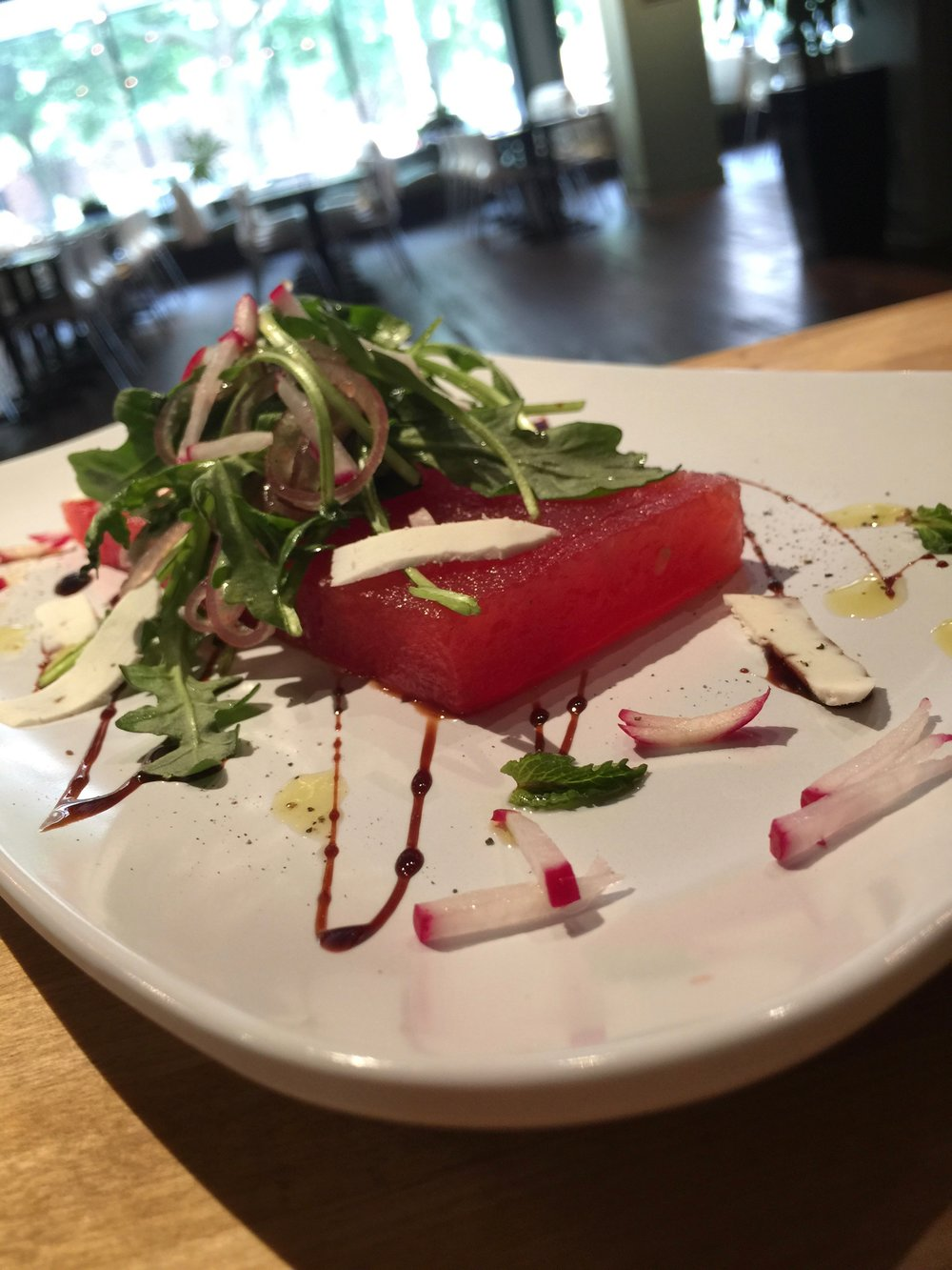 Compressed Watermelon Salad