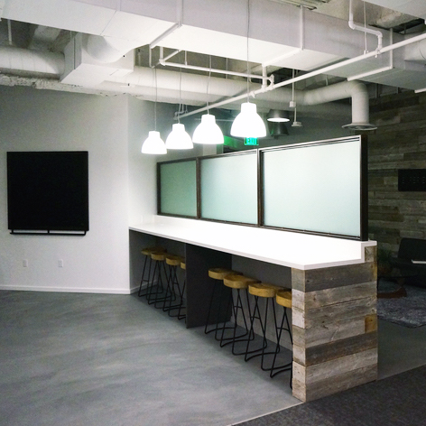 EXPERIENCES FOR MANKIND   Custom Steel Hexagon Shelving Units, Chalk Boards, Partition Walls & Signage