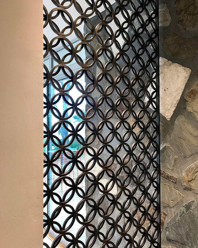 Mid-Century Window Screen and Sliding Door. Steel + Patina + Wax. Solana Beach, CA.