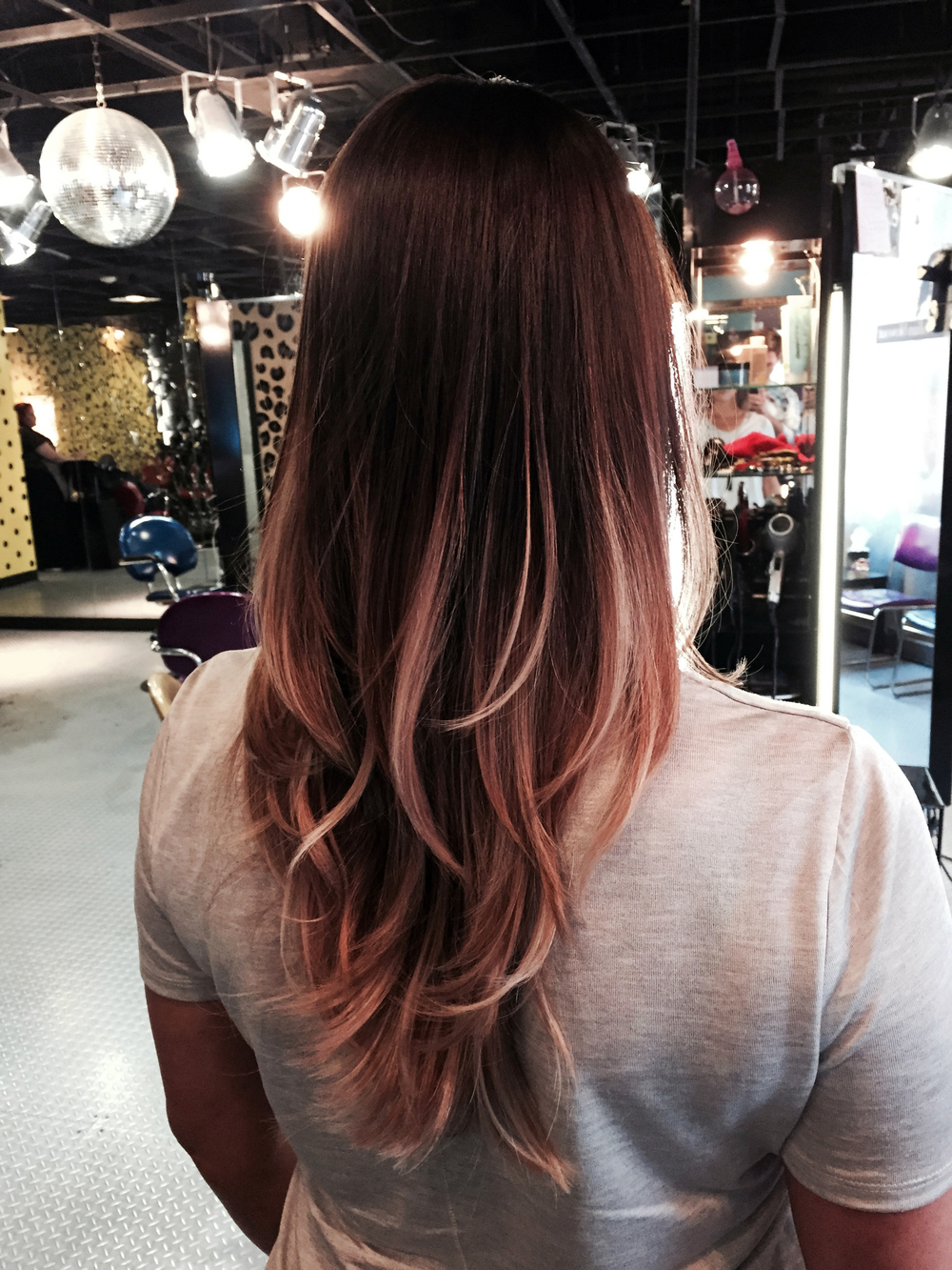 Ombre and cut by Samantha