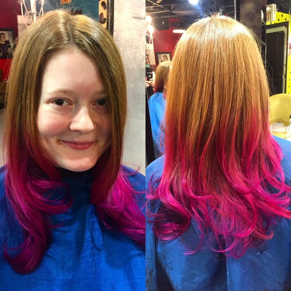 Ombre and cut by Kasi