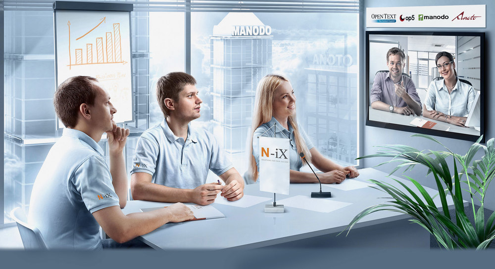 Client:N-iX  Agency: Vitamin ADV Project Manager: Vitaliy Sobolevskiy Creative director: Ilya Lazorkyn Photoshooting: Vitamin Photo Studio  Photographer: Jaroslav Monchak