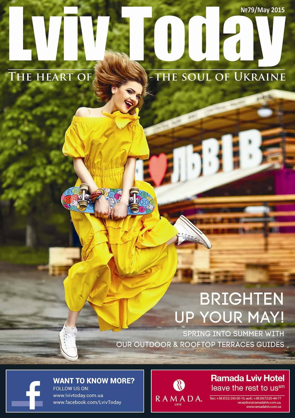 On the cover:  Olena Kec  (MA OK'S Models)   Special thanks to Ukrainian fashion designers store DиZайнери.UA  (27, Valova str., Lviv) for kindly provided outfit Make-up by: Liliana Ravrukh Photography by: Ярослав Мончак  Location: Central Park терасса