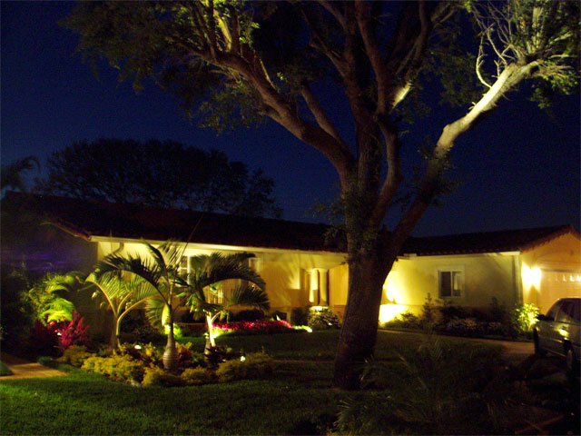 Landscape bright light designs of palm beach broward and miami private residence with landscape lighting miami lakes florida aloadofball Gallery