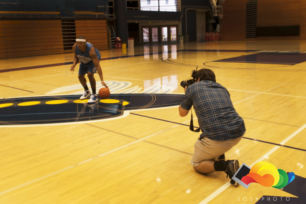 Behind the Scenes, seen here capturing the essence of an athlete (2011) Photographed by  Benjo Arwas .