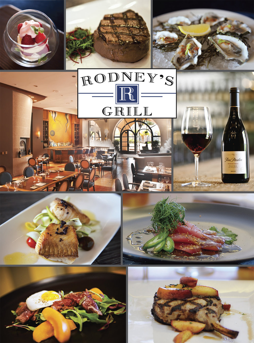 Photogrpahed & Designed Rodney's Bar & Grill interiors and food items for 2016 Advertisement.