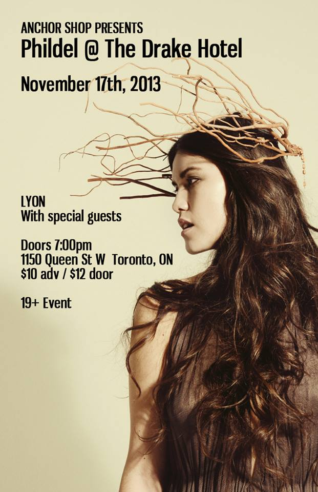 LYON Supporting Phildel @ The Drake November 17th