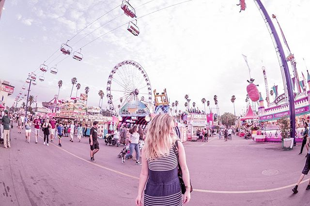 Happy Labo(u)r Day weekend!  Growing up I'd usually be at the #portperryfair or at the cottage, but this weekend I went to explore the #lacountyfair ...and almost forgot how terrifying (and fun) those spinning rides are 🎡🌴☀️