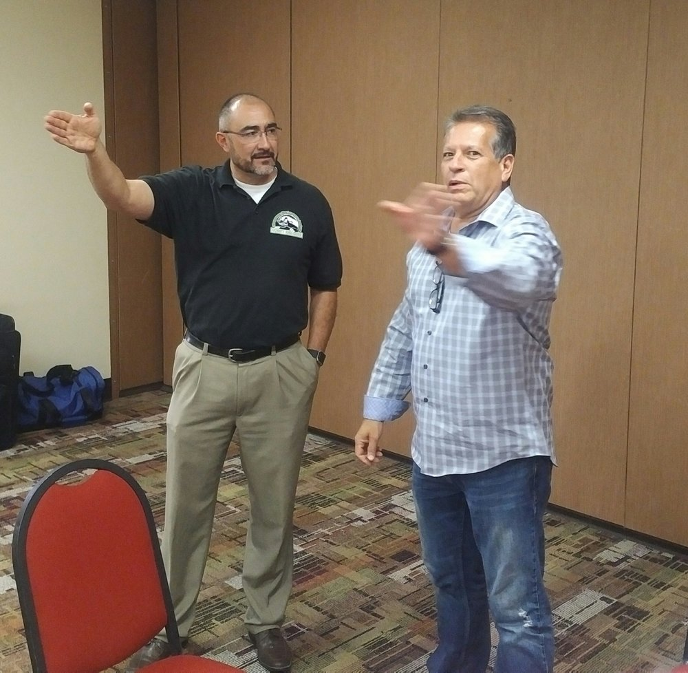 ASLA Executive Director Rafe Martinez and legislative collaborator Rick Martinez
