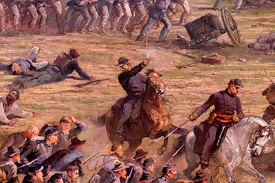 Detail of the cyclorama from  National Park Service