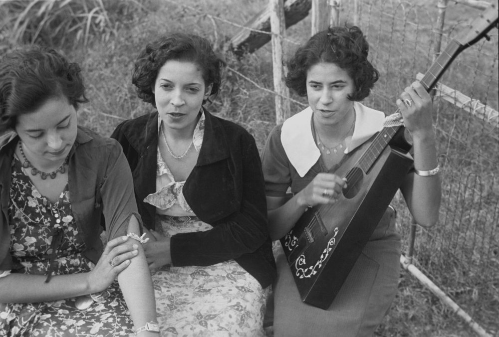 Creole    girls,    Plaquemines Parish   ,    Louisiana   , 1935  Ben Shahn - This image is available from the United States  Library of Congress 's  Prints and Photographs division  under the digital ID  fsa.8a16783 .