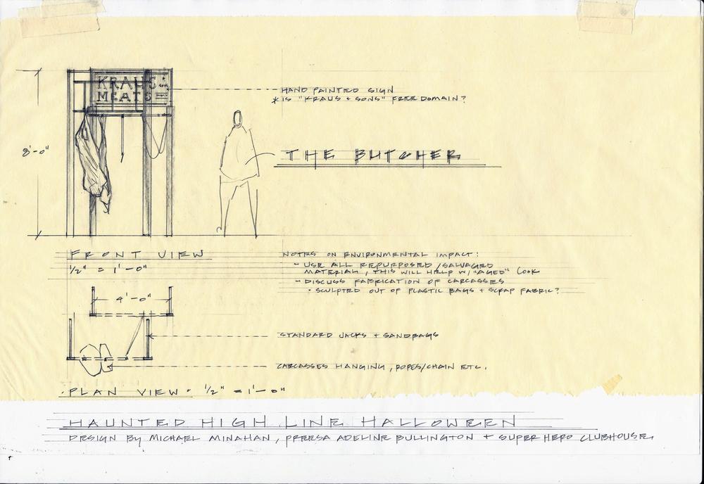 Preliminary design sketch by Core Members Michael Minahanand Preesa Adeline Bullington