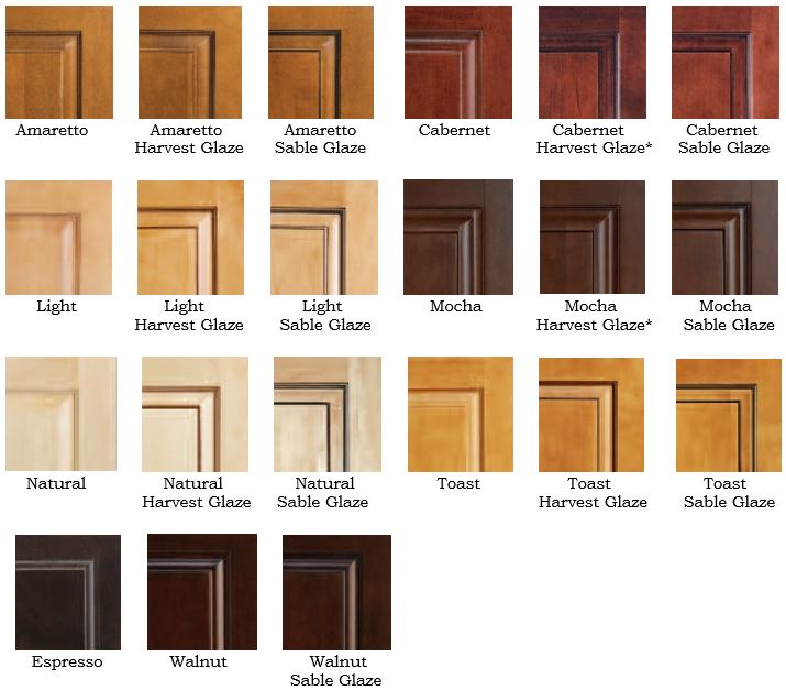 Maple Kitchen Cabinet Stain Colors