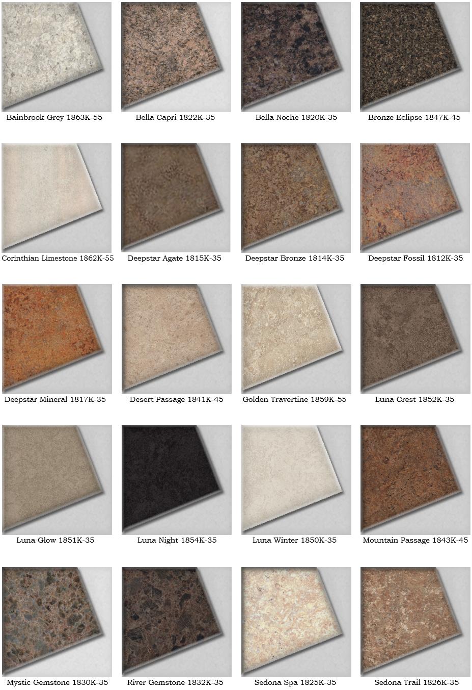 Countertop Color Options : Laminate ? Cape Fear Cabinets