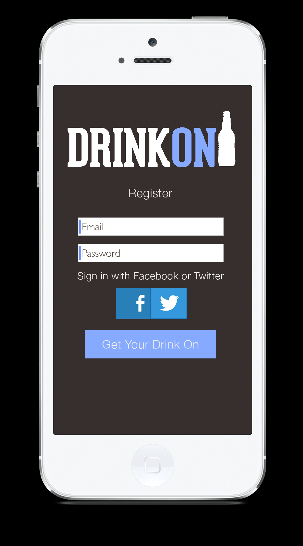 facebook mobile login iphone drinkon iphone app kristen marzelli design 14064