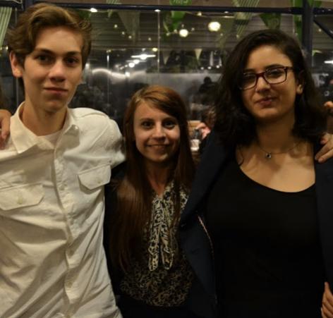 Our LD JVers:  Aleksandar Šipetić, Katherine Fennell, and Yassmin Elbanna