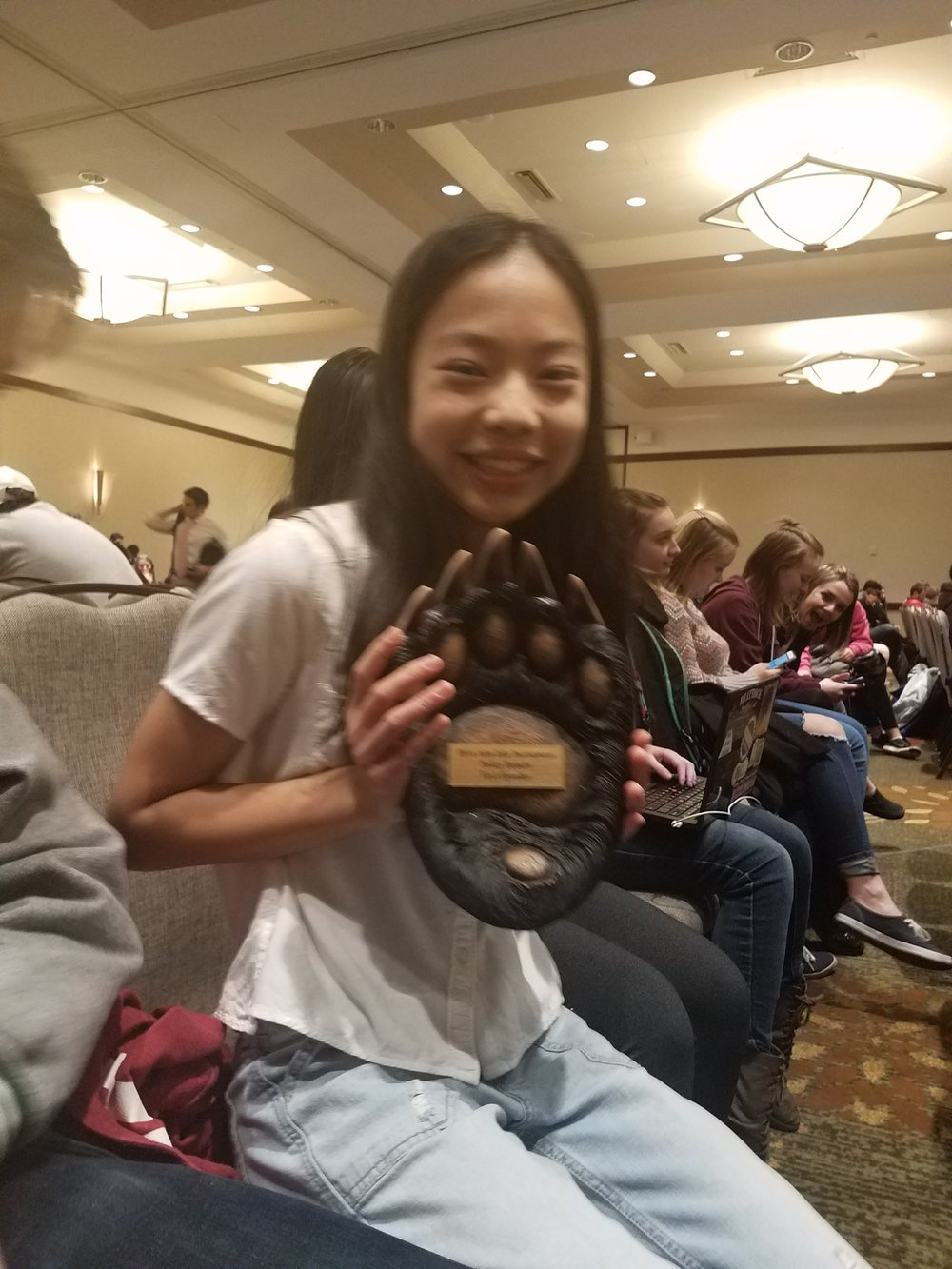 Luola Chen - Top Speaker in Policy Debate at the Blake Tournament Jenny Han, her partner, was 2nd Speaker! Way to go girls!