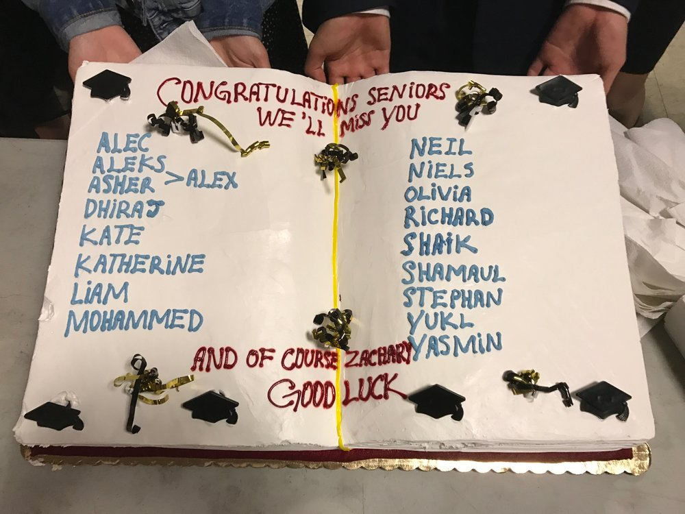 2017 Speech & Debate Senior Cake!