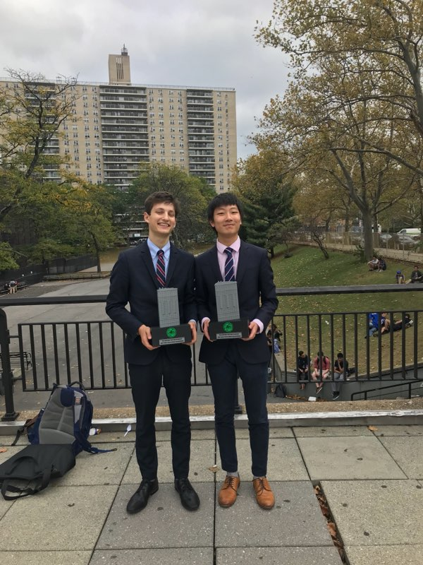 Daniel Ju and Abie Rohrig Quarterfinalists in PF at Big Bronx
