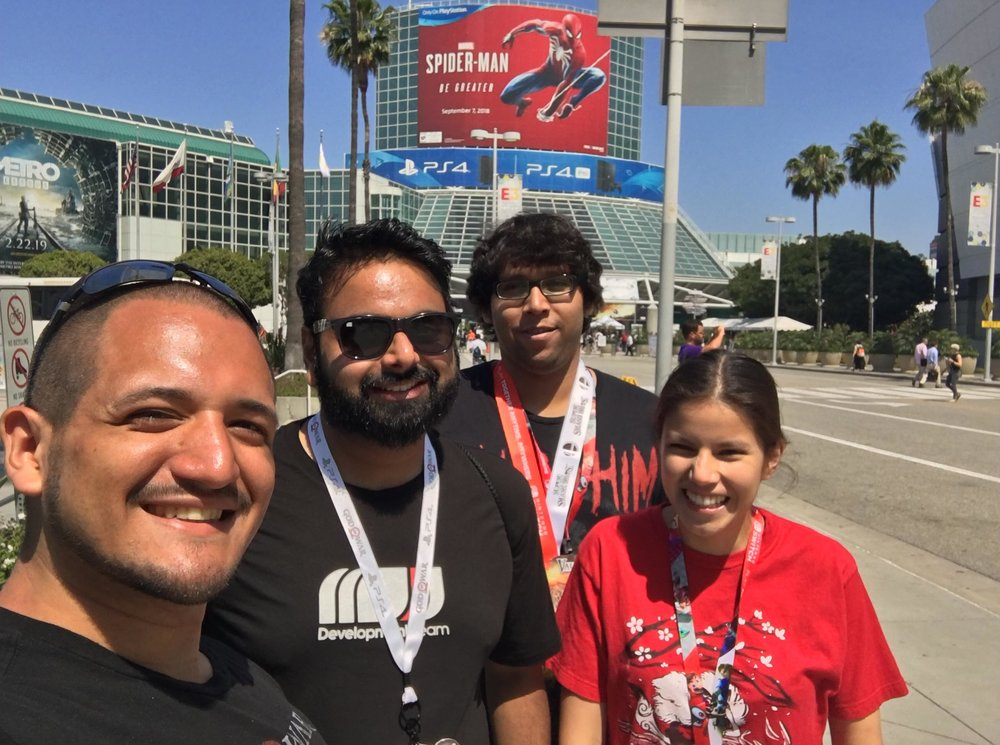 XPL selfie at E3. :) (We were part of the exploration [XPL] team of QA)