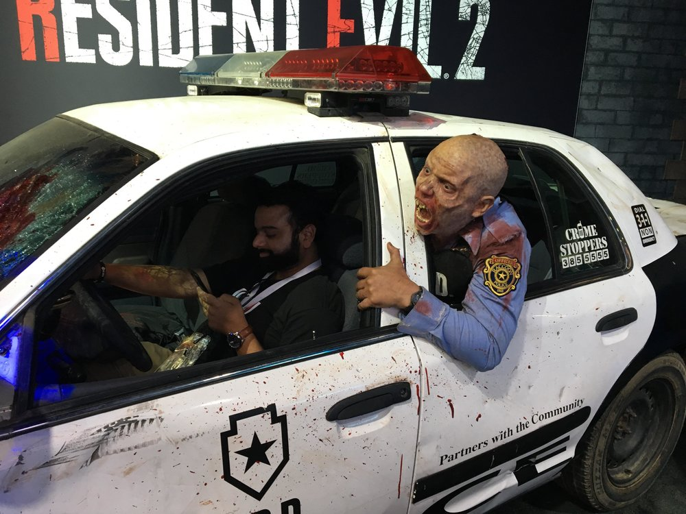 Hey Anand, quit texting and driving at E3. I think there's a zombie in the car…