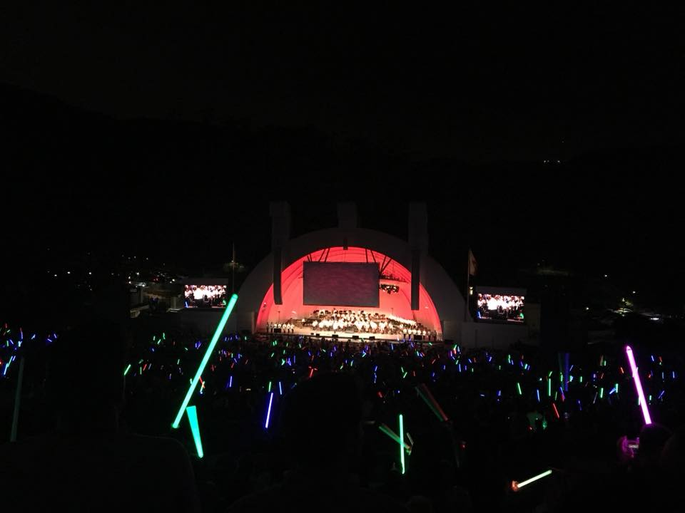 Saw John Williams conduct his music at the Hollywood Bowl.