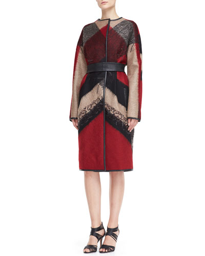 J. Mendel Abstract Check Coat , $7500