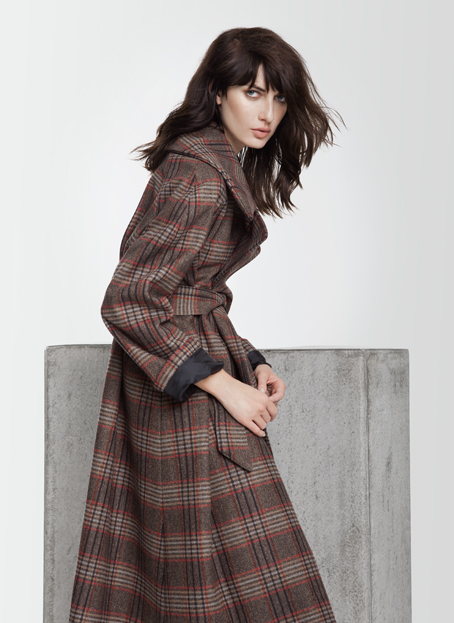 Isabel Vollrath Plaid Trench Coat  as seen at  Berlin Showroom