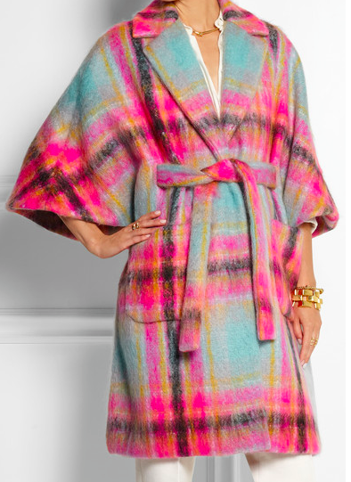 Delpozo Checked Mohair-Blend Cape , $3450