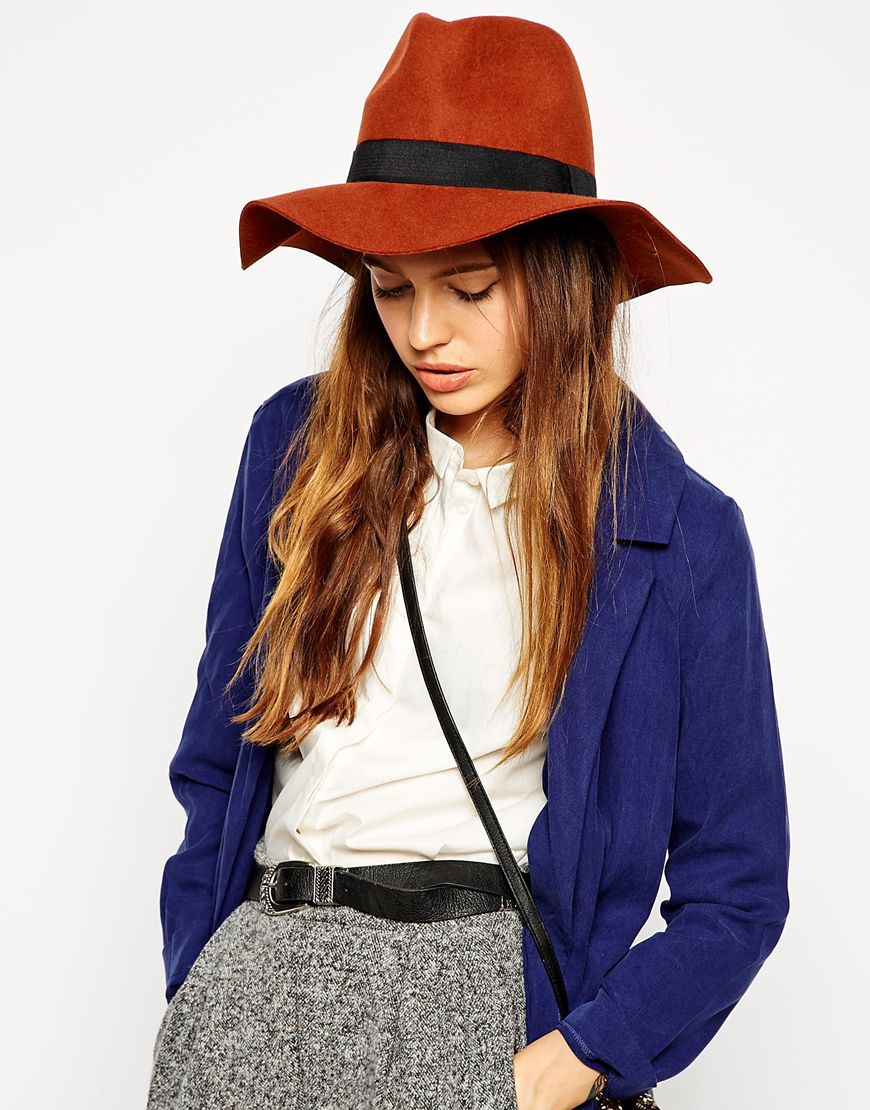 ASOS Felt Fedora with Wide Band, $37.90