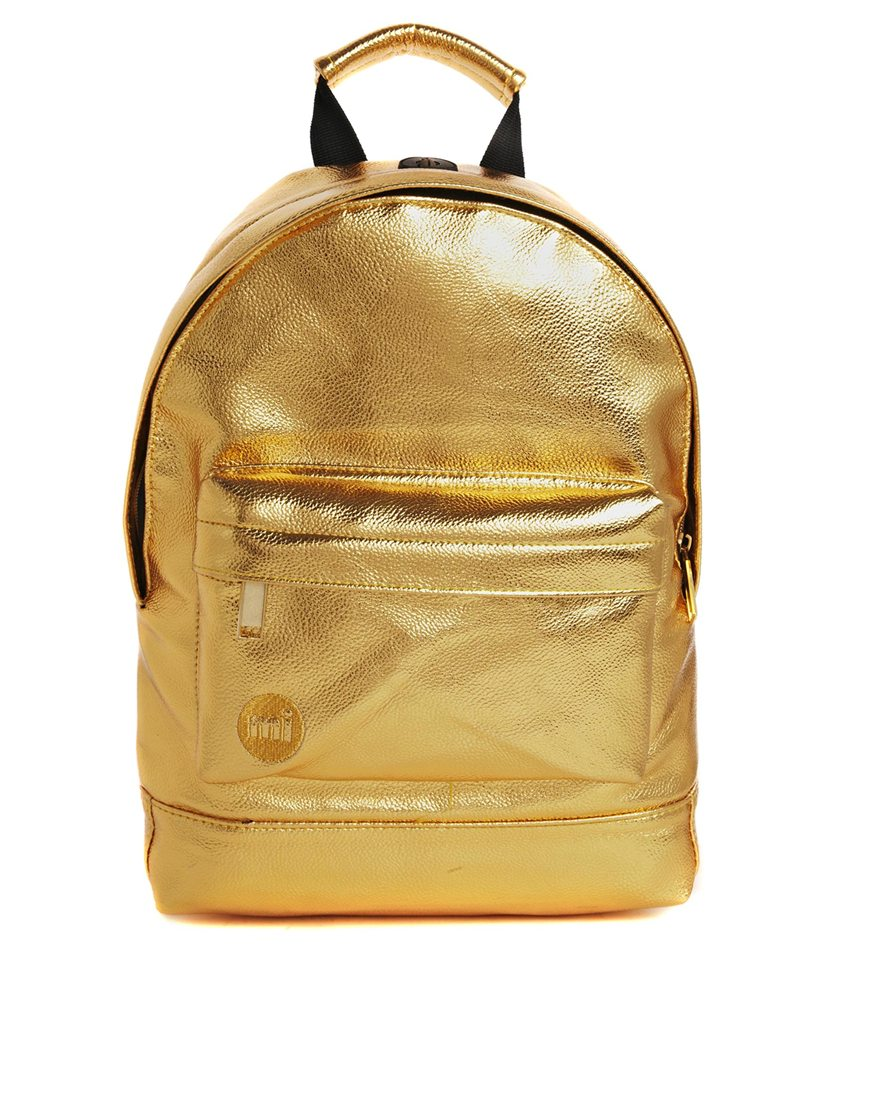 Mi-Pac 24K Metallic Gold Backpack, $76
