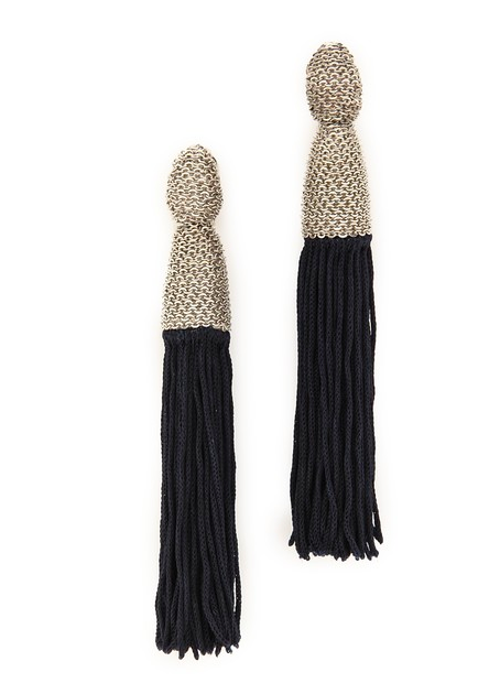 Oscar de la Renta Chain Wrap Tassel Earrings  $425