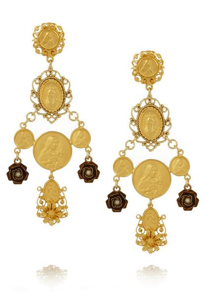 Dolce & Gabbana Madonne Clip Earring $1100