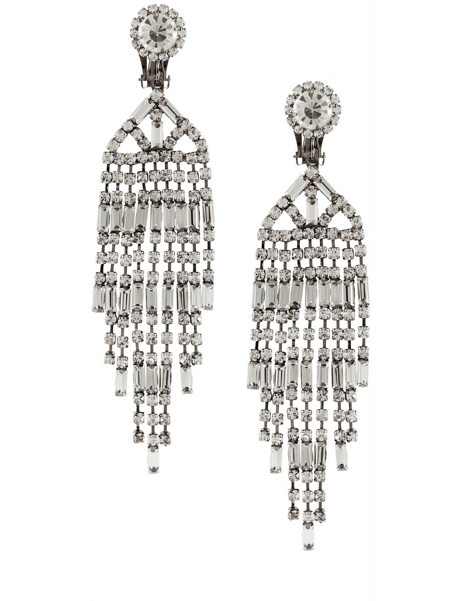 Kenneth Jay Lane Rhodium-Plated Earring  $115