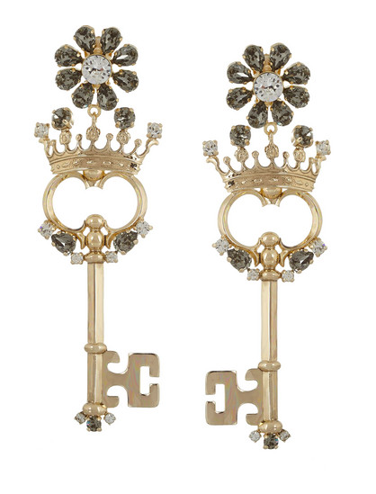 Dolce & Gabbana Crystal Clip Earrings $532 marked down from $1330